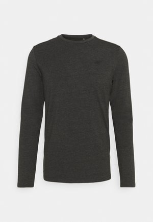 Top sdlouhým rukávem - dark grey melange