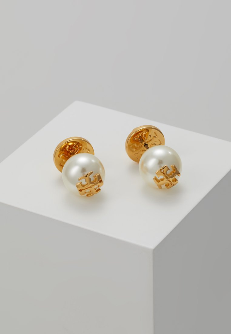 Tory Burch - STUD EARRING - Náušnice - ivory/tory gold-coloured