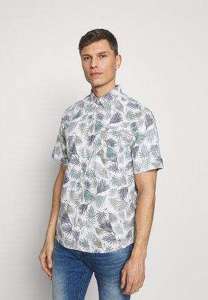 RAY SLUB PRINT SHIRT - Shirt - white