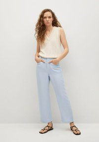 Mango - Trousers - sky blue - 1