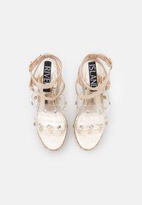 River Island - Platform sandals - gold - 4