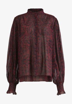 LEONIE STANZA SHIRT - Button-down blouse - red