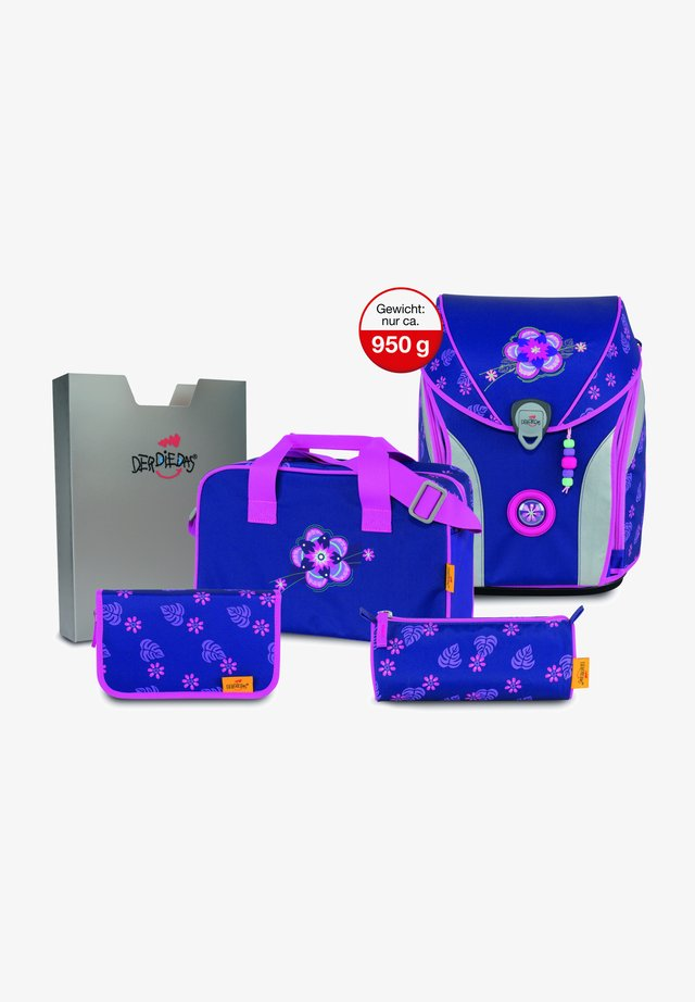 School set - lilac flower