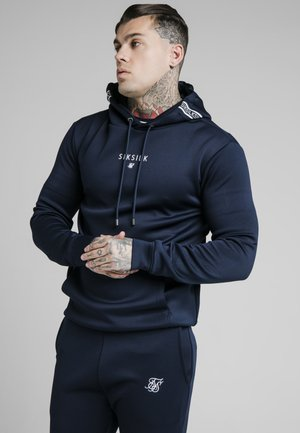 ELEMENT MUSCLE FIT - Felpa con cappuccio - navy / white