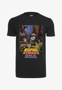 Mister Tee - STAR WARS YODA POSTER  - Print T-shirt - black - 0