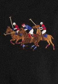 Polo Ralph Lauren - CUSTOM SLIM FIT TRIPLE-PONY POLO SHIRT - Koszulka polo - black - 6