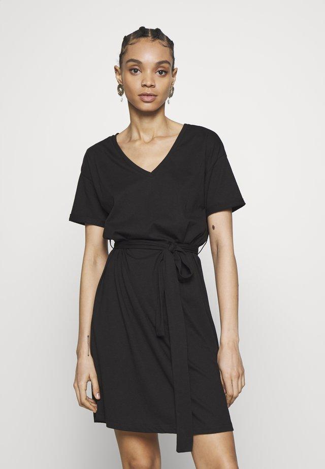 VIDREAMERS DRESS - Žerzejové šaty - black