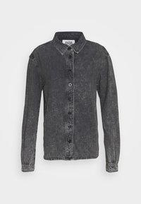 MAJKEN - Button-down blouse - black stone