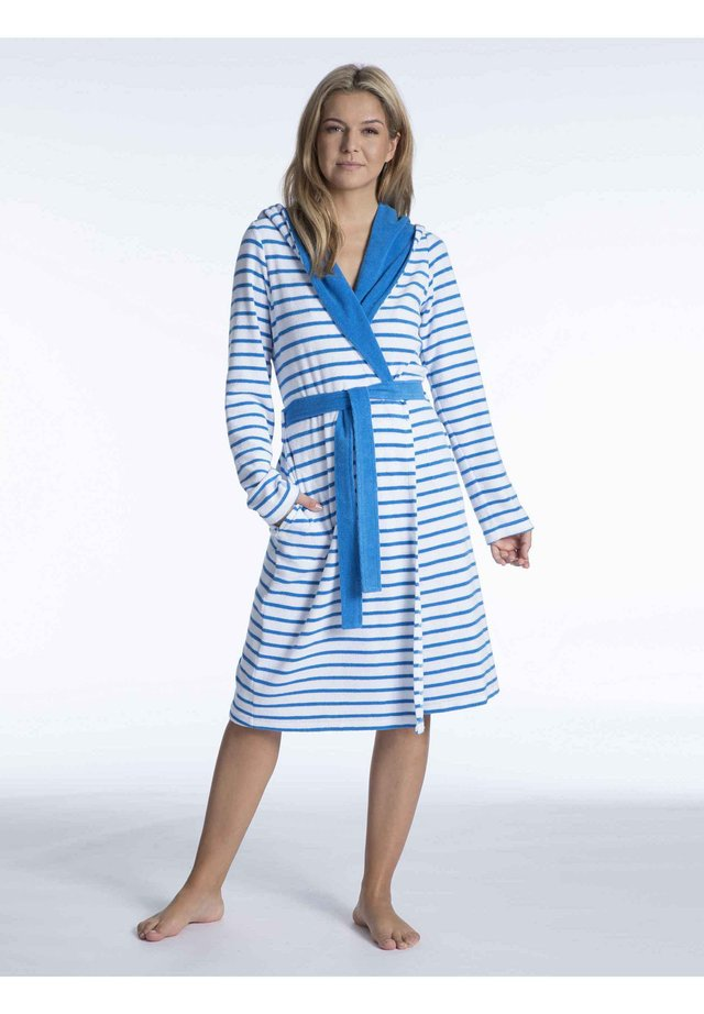 Dressing gown - turquise-white