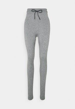 HIGH WAIST CROPPED SEAMLESS JOGGERS - Tracksuit bottoms - grey marl