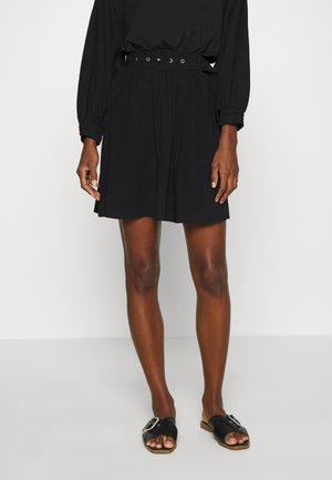 SLFWYNONA SHORT SKIRT - A-line skirt - black