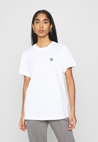adidas Originals - LOOSE TEE - Print T-shirt - white - 0