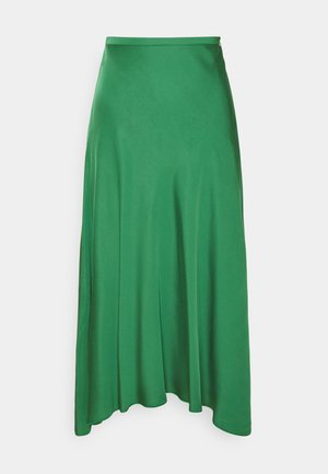 A-line skirt - true green