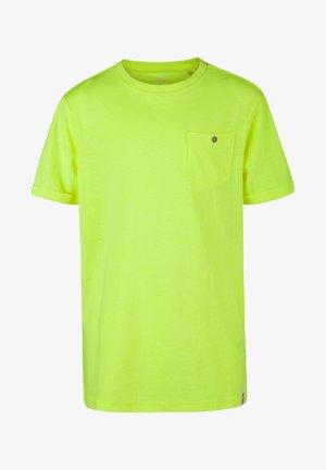 WE FASHION JONGENS NEON T-SHIRT - T-shirt basic - light yellow