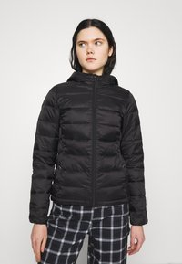 ONLY - ONLSANDIE QUILTED HOOD JACKET - Light jacket - black - 0