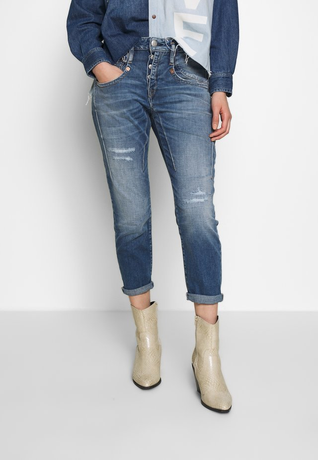 SHYRA CROPPED - Jeans Skinny Fit - mariana blue