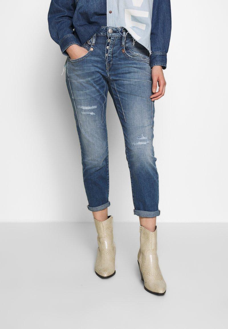 Herrlicher - SHYRA CROPPED - Skinny džíny - mariana blue