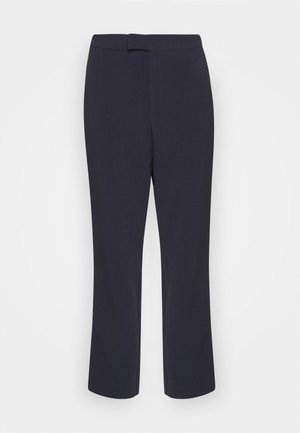 High Waist Trousers - Trousers - dark blue