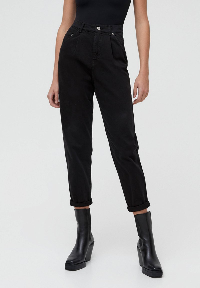 PULL&BEAR - Pantalon classique - black