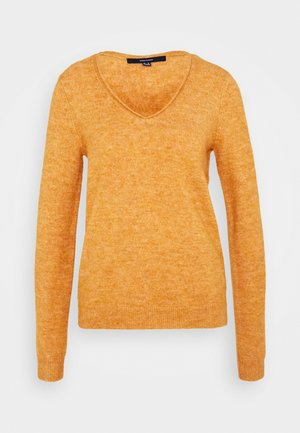 VMSIMONE V NECK BLOUSE  - Jumper - buckthorn brown