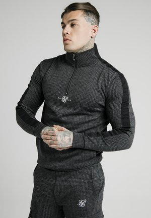 SIKSILK TONAL CHECK QUARTER ZIP  - Svetr - grey