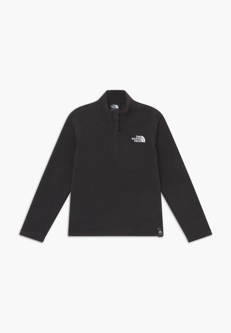 The North Face - YOUTH GLACIER 1/4 ZIP - Bluza z polaru - black/white