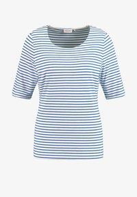 Gerry Weber - 1/2 ARM GERINGELTES - Print T-shirt - ecru/weiss/blau ringel - 3