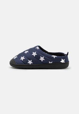 Slippers - dark navy/white