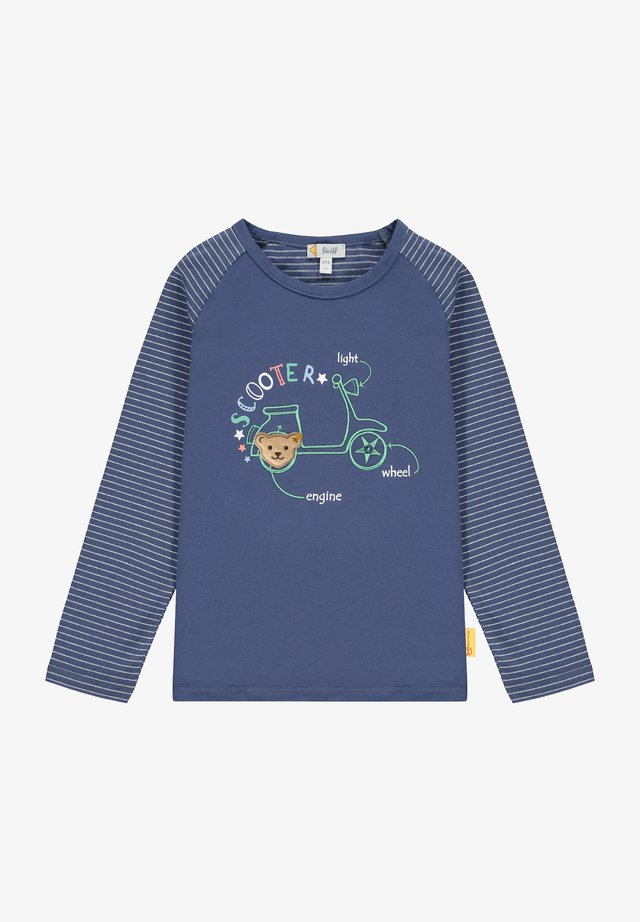HIG FIVE MIR VESPA BESTICKUNG - Long sleeved top - deep cobalt