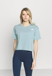 The North Face - CROPPED SIMPLE DOME TEE - T-shirt basic - tourmaline blue - 0