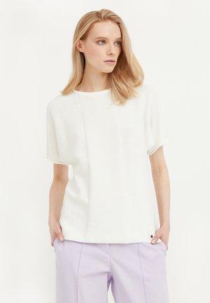 RUNDHALS - Print T-shirt - beige