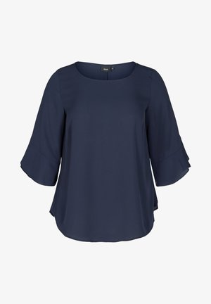 WITH 3/4 LENGTH SLEEVES - Blouse - blue