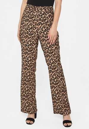 MIT LEOPARDENMUSTER - Trousers - brown