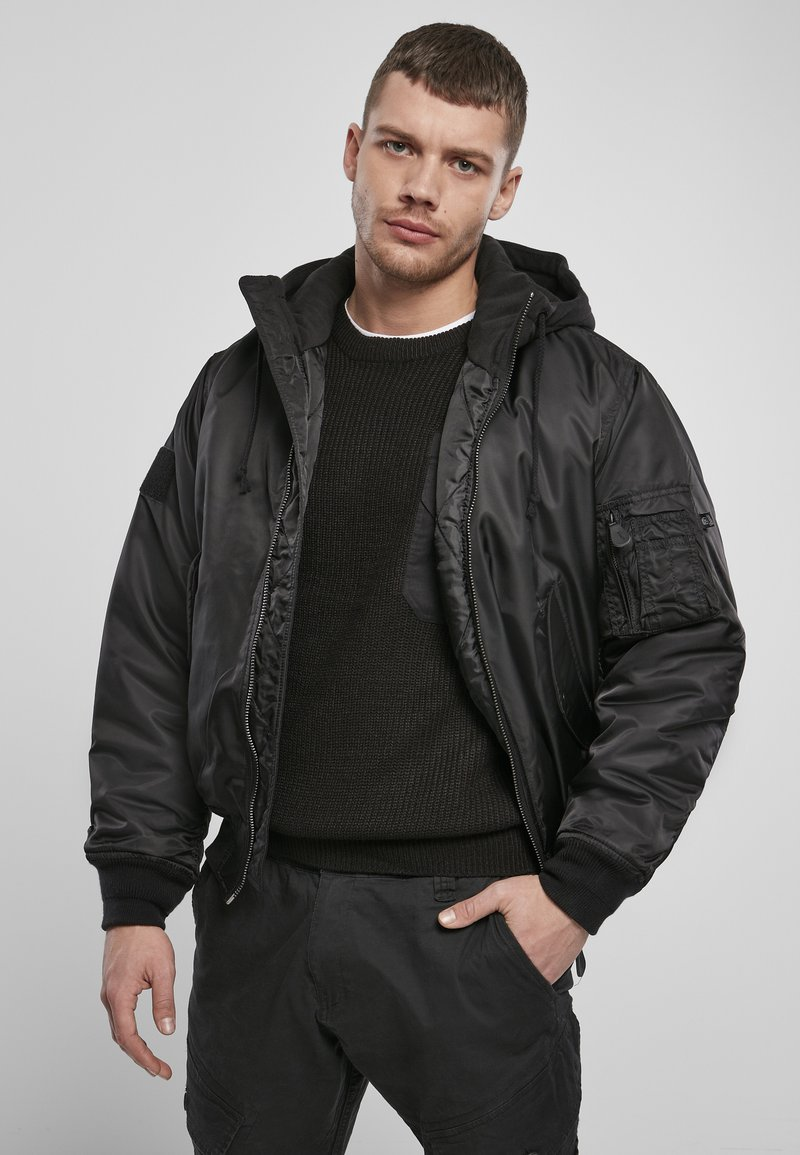 Brandit - HOODED  - Light jacket - black