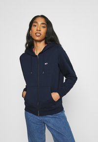Tommy Jeans - REGULAR HOODIE ZIP THROUGH - Zip-up hoodie - twilight navy - 0