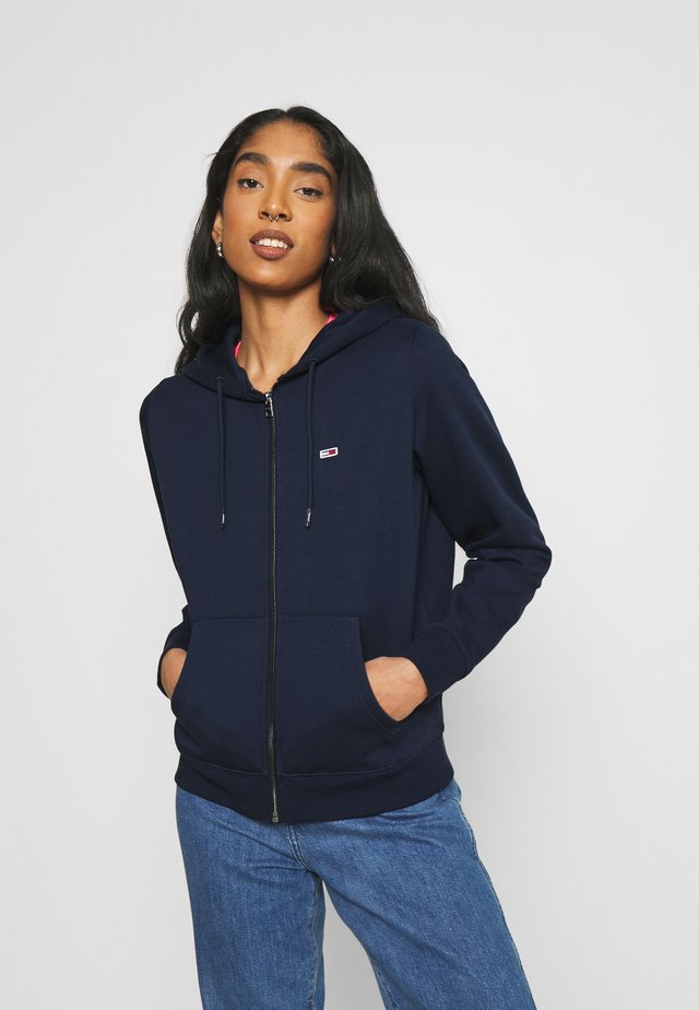 REGULAR HOODIE ZIP THROUGH - veste en sweat zippée - twilight navy
