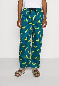 Lousy Livin Underwear - BATHROBE PYJAMA PANTS BANANAS SET - Župan - blue - 3