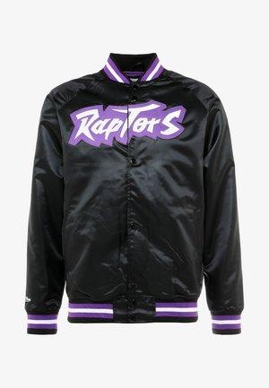 NBA TORONTO RAPTORS LIGHTWEIGHT JACKET - Klubové oblečení - black