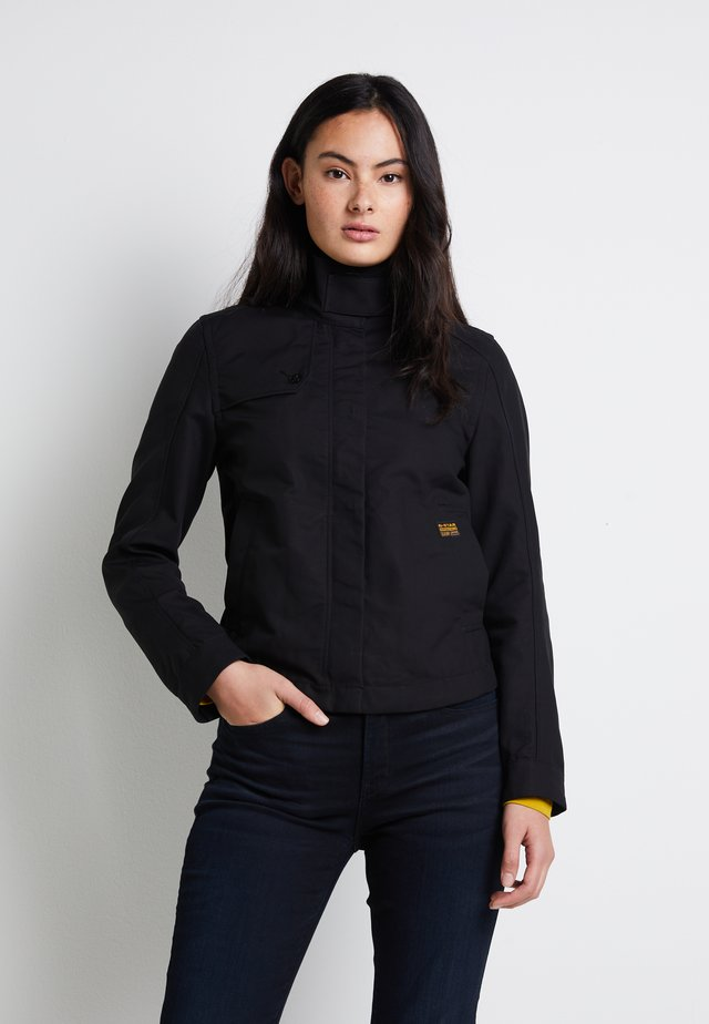 SLIM OVER - Summer jacket - dk black