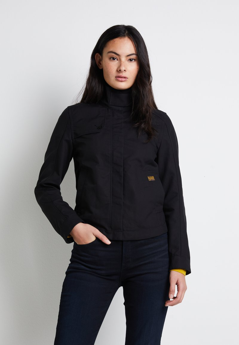 G-Star - SLIM OVER - Summer jacket - dk black