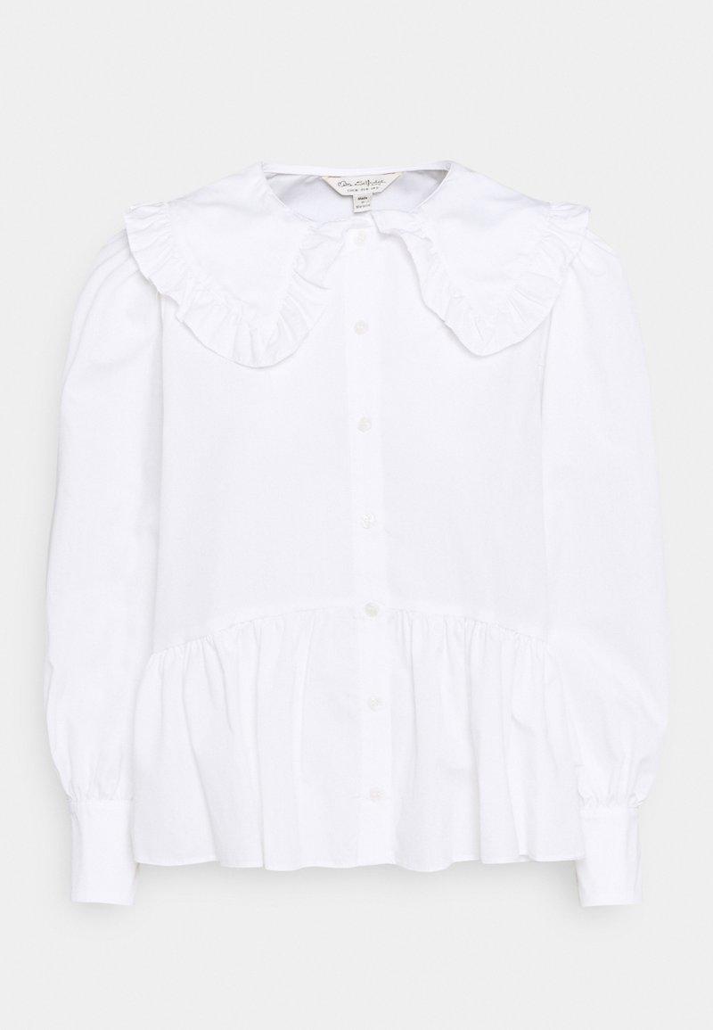 Miss Selfridge - PRAIRIE FRILL COLLAR  - Button-down blouse - white