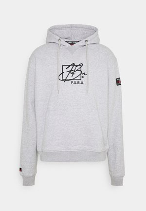 SCRIPT HOODED  - Sweatshirt - grey