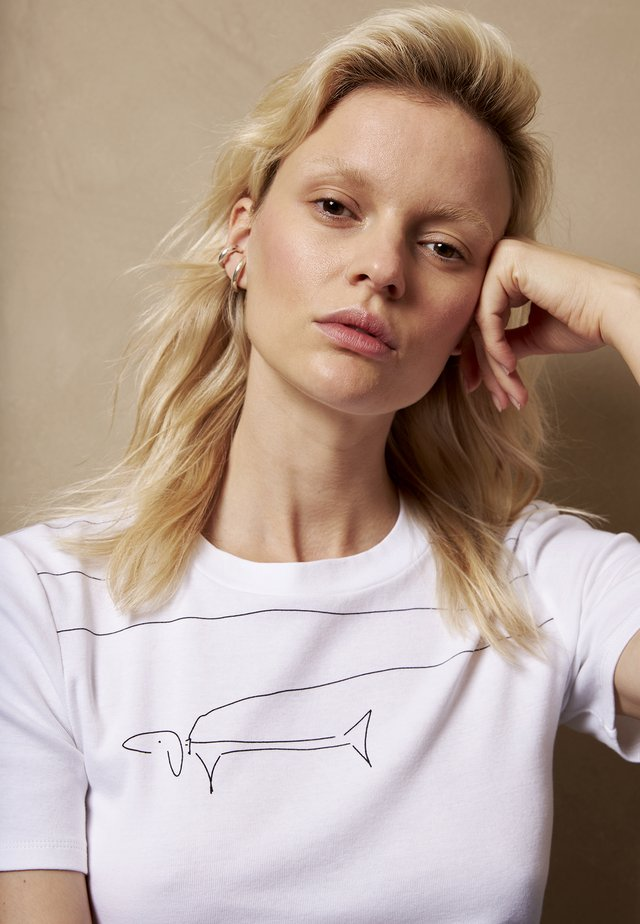 RUDI  - T-shirt con stampa - white