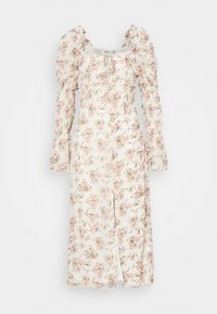 Missguided - FLORAL FRILL SHOULDER TIE DRESS - Day dress - cream - 4