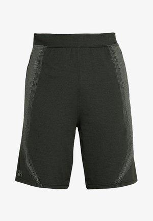 THREADBORNE SEAMLESS SHORT - Pantalón corto de deporte - artillery green/moss green