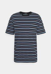 Scotch & Soda - CLASSIC PATTERNED CREWNECK - Print T-shirt - dark blue/blue - 0