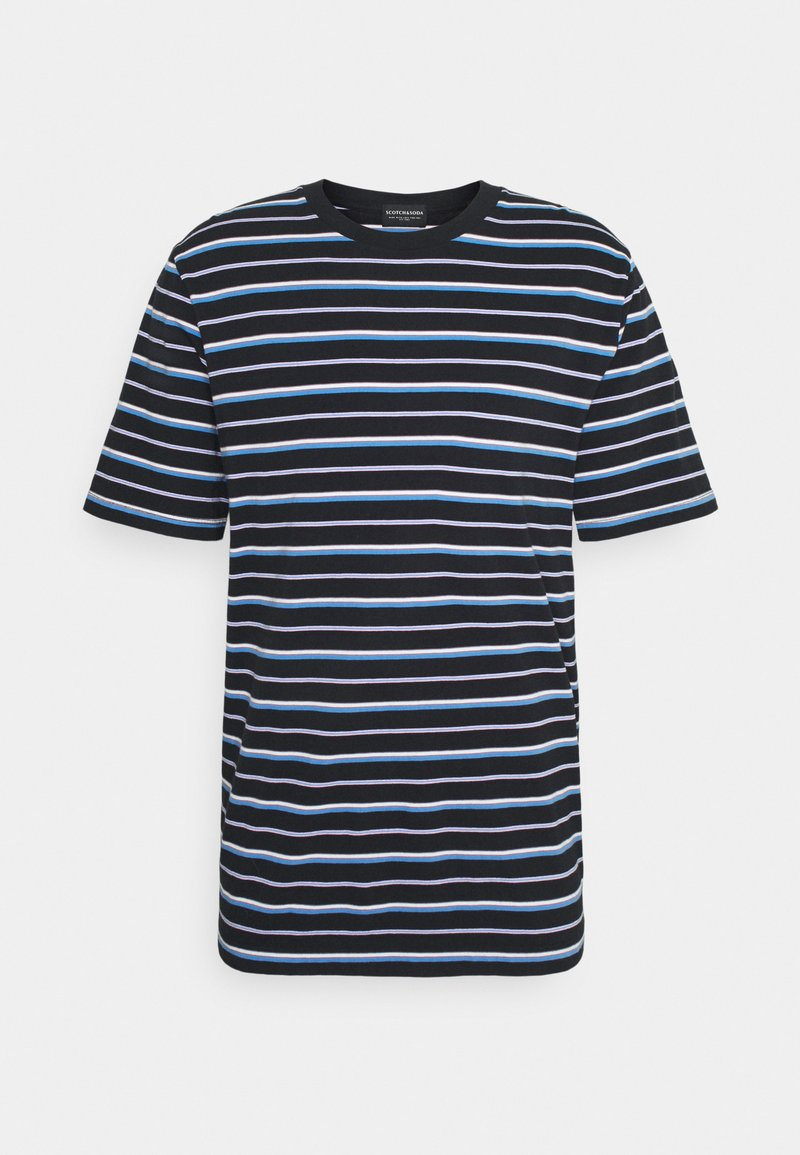 Scotch & Soda - CLASSIC PATTERNED CREWNECK - Print T-shirt - dark blue/blue