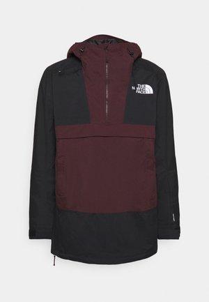 SILVANI ANORAK - Ski jacket - bordeaux/black