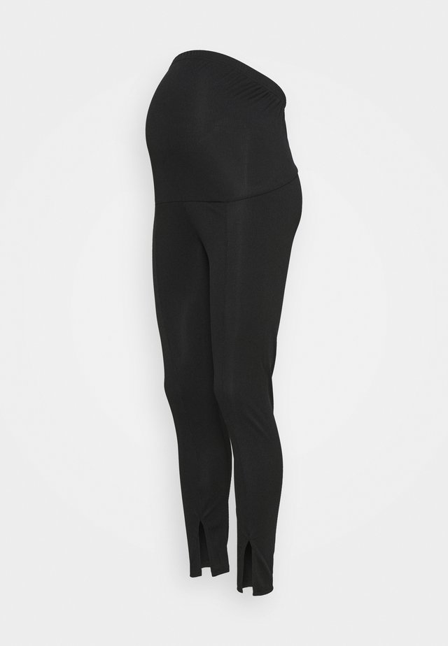 SPLIT FRONT - Legging - black