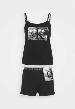 FOIL CAMI SET - Pyjama - black/silver